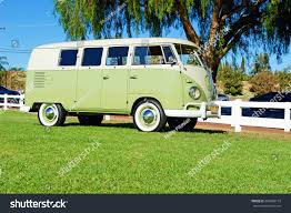 green volkswagen van yorba lindacalifornia oct 1 2016 classic stock photo 494899174