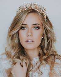 wedding crowns wedding crown pearl and leaf crown by kezani