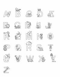 abc for kids coloring page free download