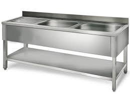 bac cuisine inox plonge 2 bacs avec étagère et égouttoir plonge cuisine