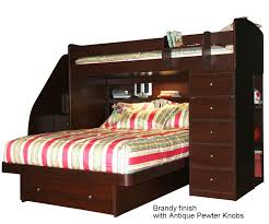 Berg  Sierra Twin Over Full Space Saver With Desk And Stairs - Twin over full bunk beds with stairs