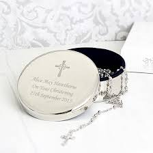 christening gifts rosary and christening trinket box find me a gift