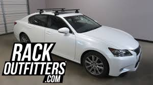 lexus gs300h usa 2013 to 2017 lexus gs sedan with thule 480r aeroblade roof rack