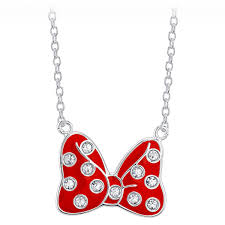 bow jewelry necklace images Minnie mouse bow pendant necklace silver shopdisney jpeg