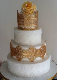 edible lace gold and white edible lace cake cake by gaynor collingwood