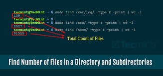 Count No Of Words In Unix How To Find Number Of Files In A Directory And Subdirectories