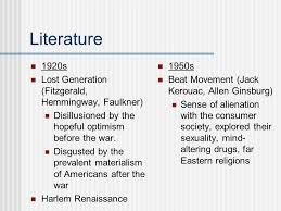 literature themes in the 1920s comparison between 1920s and 1950s post wwi america was prosperous