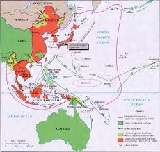 netherlands east indies map the map shows that japan held most of the pacific during