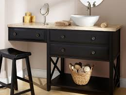 double bathroom vanity with makeup area home design ideas