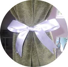 Curtains With Ribbons Home Sweet Homemade Home Inspired Idea 3 Curtain Tiebacks
