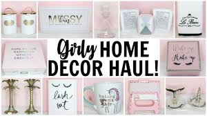 girly home decor haul homegoods tj maxx marshalls hobby