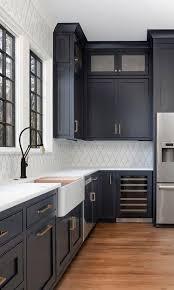 navy blue kitchen cabinets with black handles 5 current kitchen trends now kitchen design white kitchen