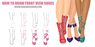 i draw fashion u2014 how to draw front view shoes step by step