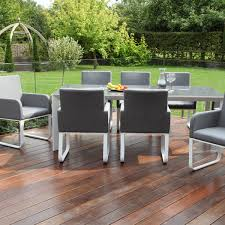 8 Seat Patio Dining Set - hutch maze rattan 8 seater outdoor dining set devane sky