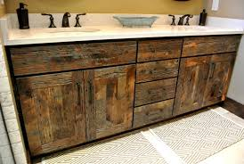 Rustic Wood Bathroom Vanity - bathroom reclaimed wood vanity distressed creative vanities using