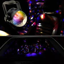 sound activated dj lights car universal 12v dj light rgb sound activated crystal magic ball