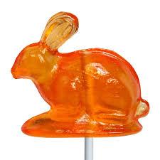 vintage rabbit 3d rabbit lollipops by melville candy
