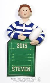 rugby player ornament by bertsclaycreations on etsy