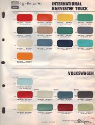 international paint chart color reference
