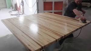 butcher block table tops butcher block counter tops and edge grain butcher block youtube