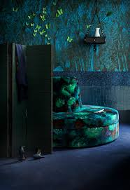 deep greens and blues are the colors i choose bringing the lush rain forest in with deep greens and blues and rich