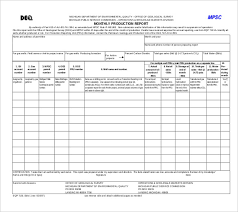 sample monthly report sample monthly production report template