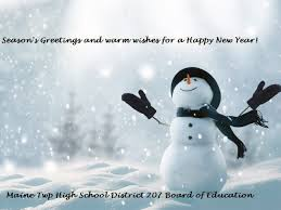 seasons greetings from board of education maine township high