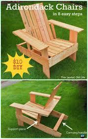diy adirondack chair free plans instructions