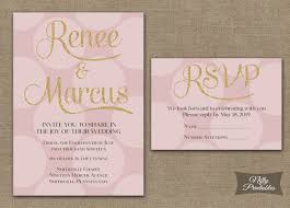 pink and gold wedding invitations pink gold dots wedding invitations nifty printables