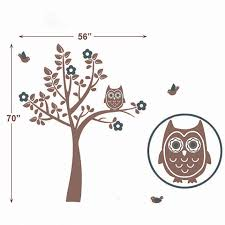low price owl squatting tree decals bird wall stickers baby