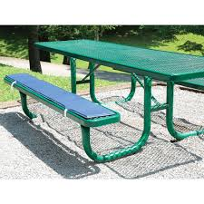 Picnic Table Bench Covers Solid Navy Bench Pads Set Of 2 Direcsource Ltd 101087