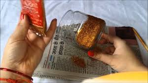 diy easy 5 mins glitter candles how to decorate your home in jst 5