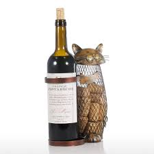 best and cheap brown tooarts cat wine holder cork container home