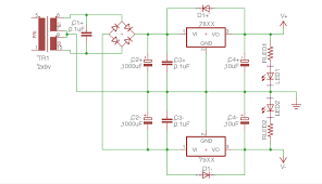 dc regulated power supply circuit wiring diagram components