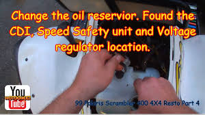 1999 polaris scrambler 400 4x4 part 4 oil reservoir change and