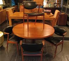 round teak dining table 1960 s danish teak dining table sold white trash nyc