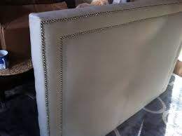 Nailhead Upholstered Headboard Bedroom Amusing Region Gray Full Nailhead Upholstered Headboard