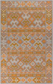 Jewel Tone Area Rug Grey Orange Area Rug At Rug Studio