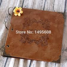 leather wedding guest book 10 inches 12 inchespersonalized wedding photo albumscrapbook