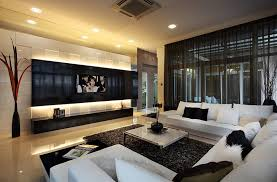 Modern Interior Design Living Room Black And White Sheer Curtains Ideas Pictures Design Inspiration