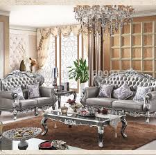 European Living Room Furniture Living Room Luxury Silver Grey Oak European Style Living Room
