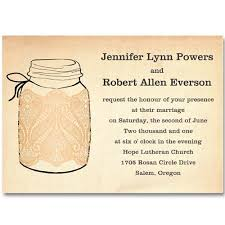 jar wedding invitations fall jars wedding invitations with lace ewi243 as low as 0 94