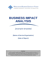 business impact analysis template 5 free templates in pdf word