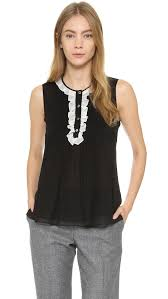 dvf blouse lyst diane furstenberg betsey blouse in black
