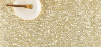 Chilewich Outdoor Rugs Dining Room Chilewich Placemats And Runners Metallic Lace Gold