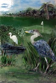 fused glass wall art great blue heron designer glass mosaics