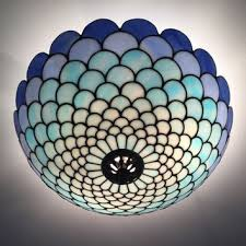 Stained Glass Light Fixtures Tiffany Acorn Plafond Ceiling Lightning From Wpworkshop On Etsy