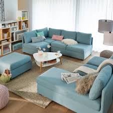 canap bleu ciel 25 inspirations déco en bleu ciel salons living rooms and sunroom