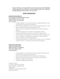 Dental Assistant Resumes Examples chronological dental assistant resume template page 2