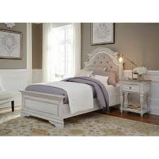 magnolia home antique white upholstered bed free shipping today